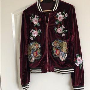 Jackets & Blazers - IG Boutique velvety bomber